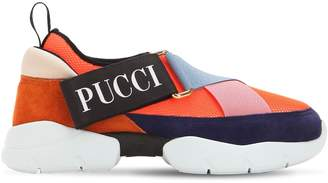Emilio Pucci 30mm City Mesh & Suede Sneakers