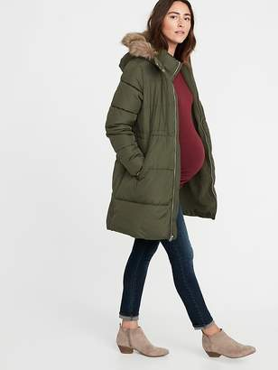 Old Navy Maternity Long-Line Hooded Frost-Free Puffer Jacket