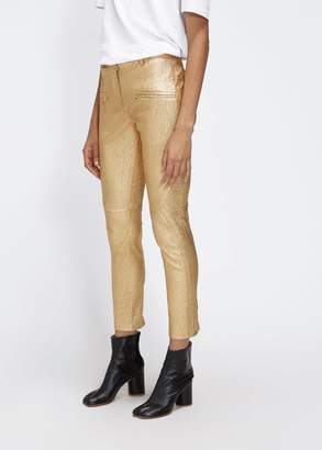 Sies Marjan Brin Metallic Leather Paneled Bike Pant