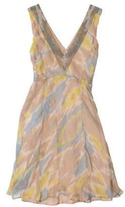 Alberta Ferretti Silk Sleeveless Dress