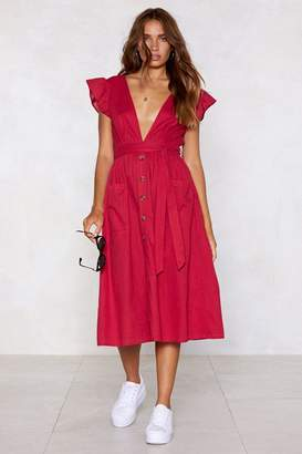 Nasty Gal Cool It Down Plunging Dress