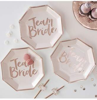 boohoo Ginger Ray Team Bride Plates