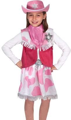 Melissa & Doug Cowgirl Role Play Costume