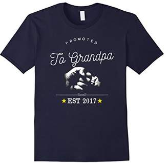 Promoted to Grandpa TShirt New Grandfather To Be Expecting