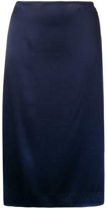 6397 Side-Slit Midi Skirt