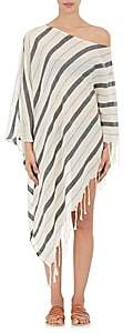 Su Women's Samana Striped Cotton Cover-Up Caftan-Ecru, Blk