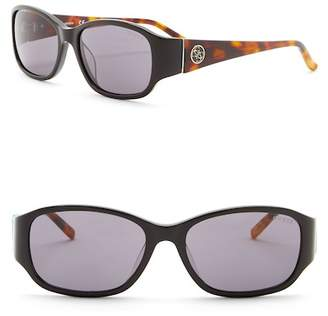 GUESS 56mm Rectangle Sunglasses