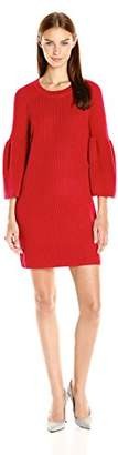 MinkPink Women's Shameless Rib Knit Full Sleeve Dress