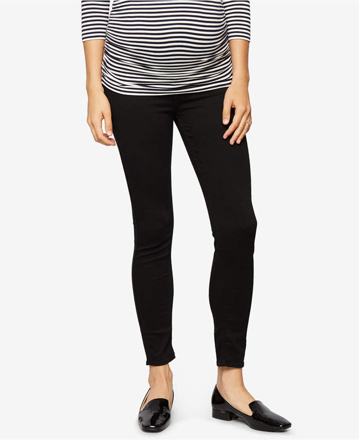 7 For All Mankind7 For All Mankind Maternity Black Wash Skinny Jeans