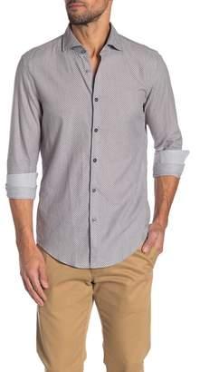 BOSS Randolph Patterned Slim Fit Dress Shirt