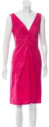 Diane von Furstenberg Plunging Neck Knee-Length Dress Pink Plunging Neck Knee-Length Dress