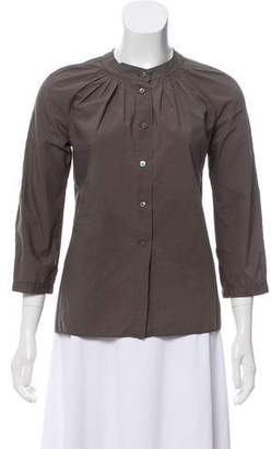 Marni Long Sleeve Button-Up Top