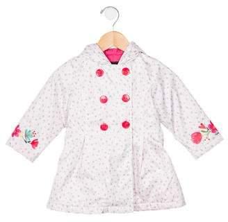 Catimini Girls' Printed Hooded Rain Jacket