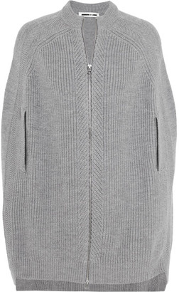 McQ Alexander McQueen - Ribbed Wool Cape - Gray $515 thestylecure.com