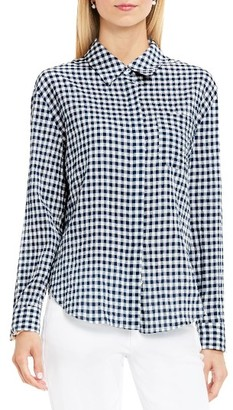 Women's Two By Vince Camuto Gingham Textured Utility Shirt $89 thestylecure.com