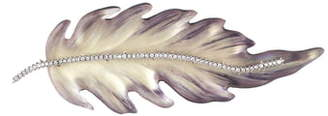 Alexis Bittar Feather Brooch