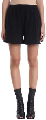 Rick Owens Boxer Black Cotton Shorts