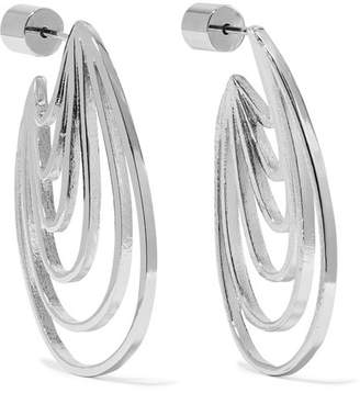 Jennifer Fisher Rainbow Huggie Silver And Rhodium-plated Earrings