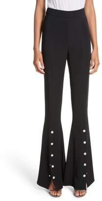 Cushnie et Ochs Emma Front Snap High Waist Flare Pants