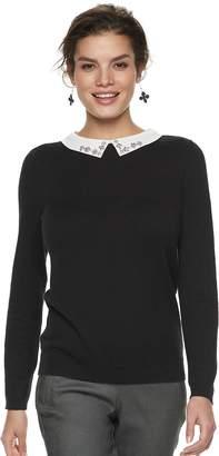 Elle Women's Embellished Collar Sweater