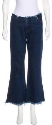 Marques Almeida Marques'Almeida Mid-Rise Flared-Leg Jeans