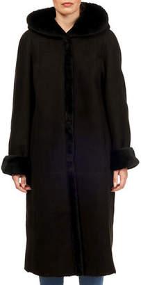 Gorski Hooded Reversible Goat Fur Coat