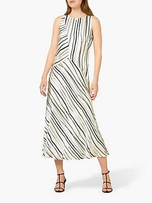 Maeve Finery Satin Dress, Black/White