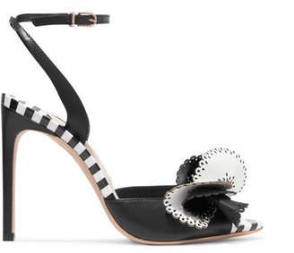Sophia Webster Soleil Laser-cut Leather Sandals - Black