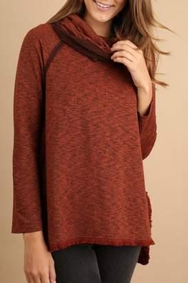 Umgee USA Cowl Neck Sweater