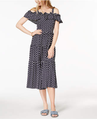 Maison Jules Cold-Shoulder Midi Dress, Created for Macy's