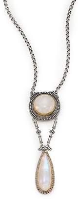 Konstantino Women's Erato Labradorite, 18K Yellow Gold & Sterling Silver Drop Pendant Necklace
