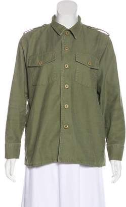 Kate Moss x Equipment Major Shirt Army Jacket