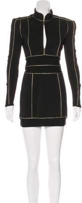 Balmain Long Sleeve Mini Dress