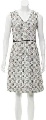 Derek Lam Lace-Up Accented Sleeveless Dress