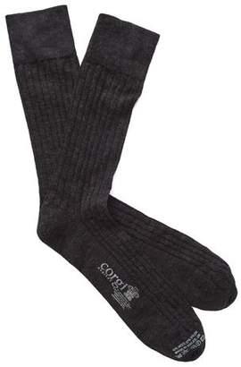 Corgi Solid Charcoal Dress Socks