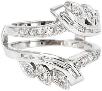 One Kings Lane Vintage 14k Mixed Cut Diamond Wedding Ring Guard - Precious & Rare Pieces