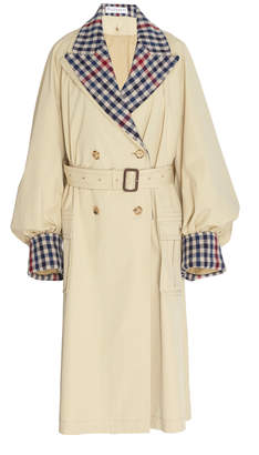 J.W.Anderson Plaid Contrast Cotton Trench Coat