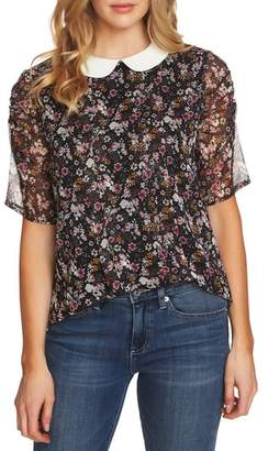 CeCe Puff Sleeve Floral Top