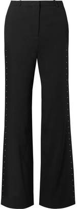 See by Chloe Embellished Stretch-crepe Flared Pants - Black