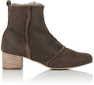Barneys New York WOMEN'S FAUX-SHEARLING ANKLE BOOTS