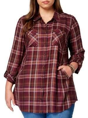 Style&Co. Style & Co. Plus Plaid Tunic Shirt