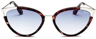 Quay Women's Hearsay Cat Eye Sunglasses, 58mm