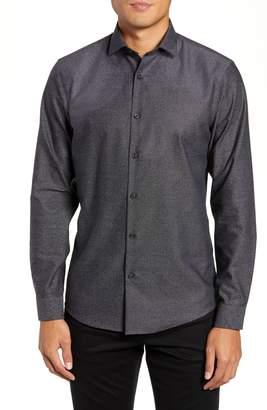 Calibrate Slim Fit Non-Iron Textured Sport Shirt