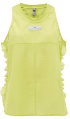 adidas by Stella McCartney Ruffle Trim Mesh Tank Top - Womens - Green