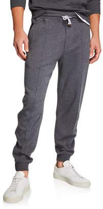 Brunello Cucinelli Men's Leisure-Fit Drawstring-Waist Pants
