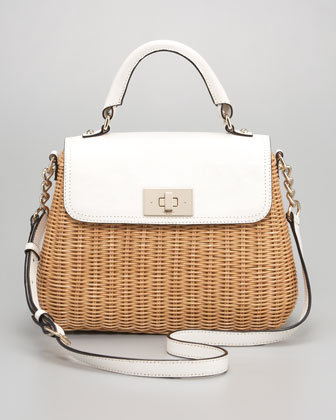 Kate Spade New York Nadine Wicker Satchel, Little