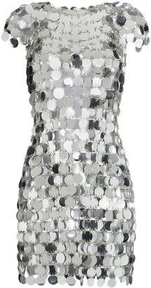 Paco Rabanne sequin chain-disc mini dress