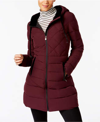 INC International Concepts I.n.c. Velvet-Trim Puffer Coat