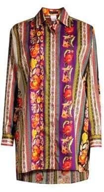 Etro Ribbon Floral Tunic Blouse