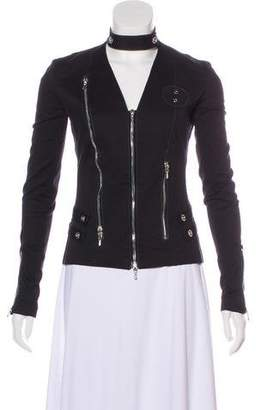 Roland Mouret Grommet-Accented Zip-Up Jacket